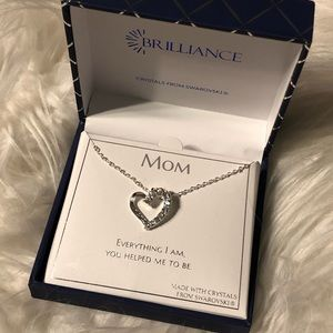Brilliance mom necklace Swarovski crystals